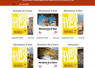 folletos turísticos del Parque nacional Sierra del Guadarrama